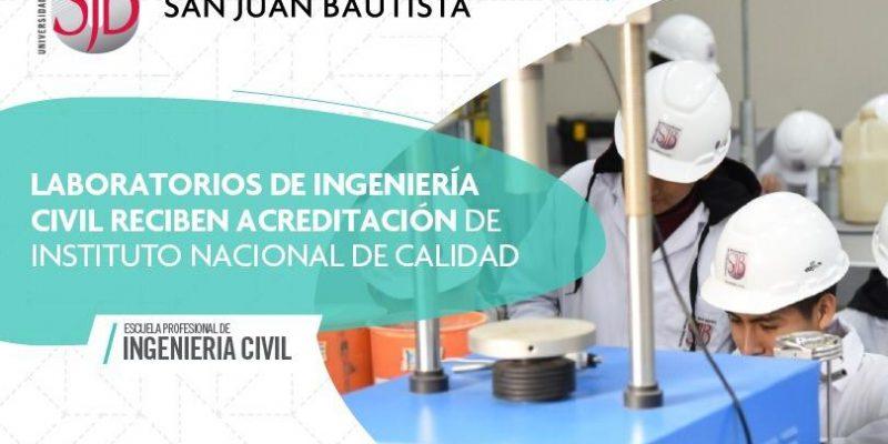 laboratorios ingenieria civil acreditacion calidad inacal dario gonzales zarpan UPSJB